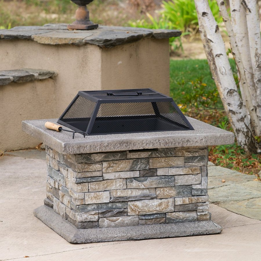 Best Selling Home Decor 29 In W Natural Stone Cement Wood Burning throughout sizing 900 X 900