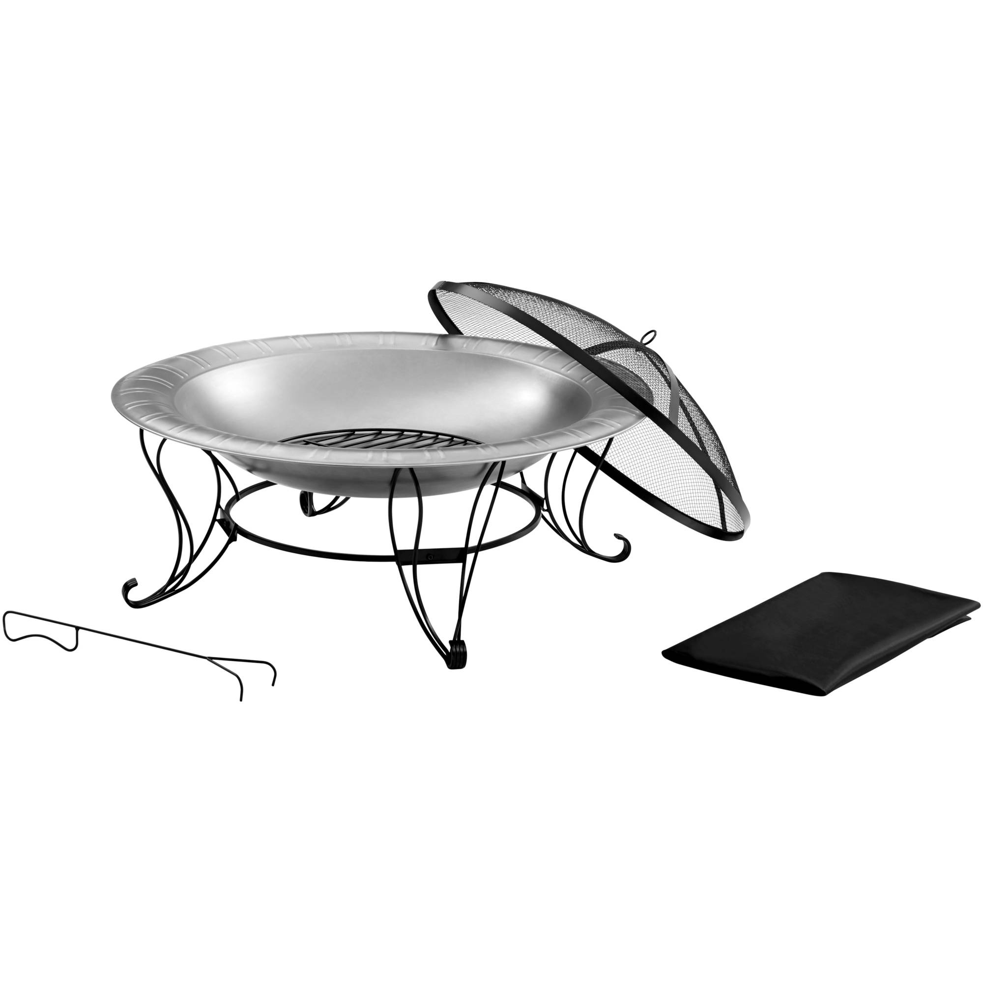 Better Homes And Gardens Stainless Steel Fire Pit 35 Walmart throughout sizing 2000 X 2000