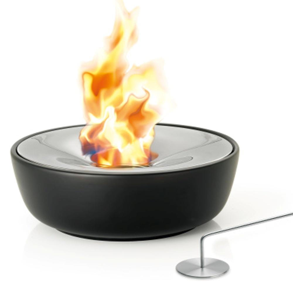 Blomus Fuoco Tabletop Gel Firepit 32cm Black Design in measurements 1000 X 1000