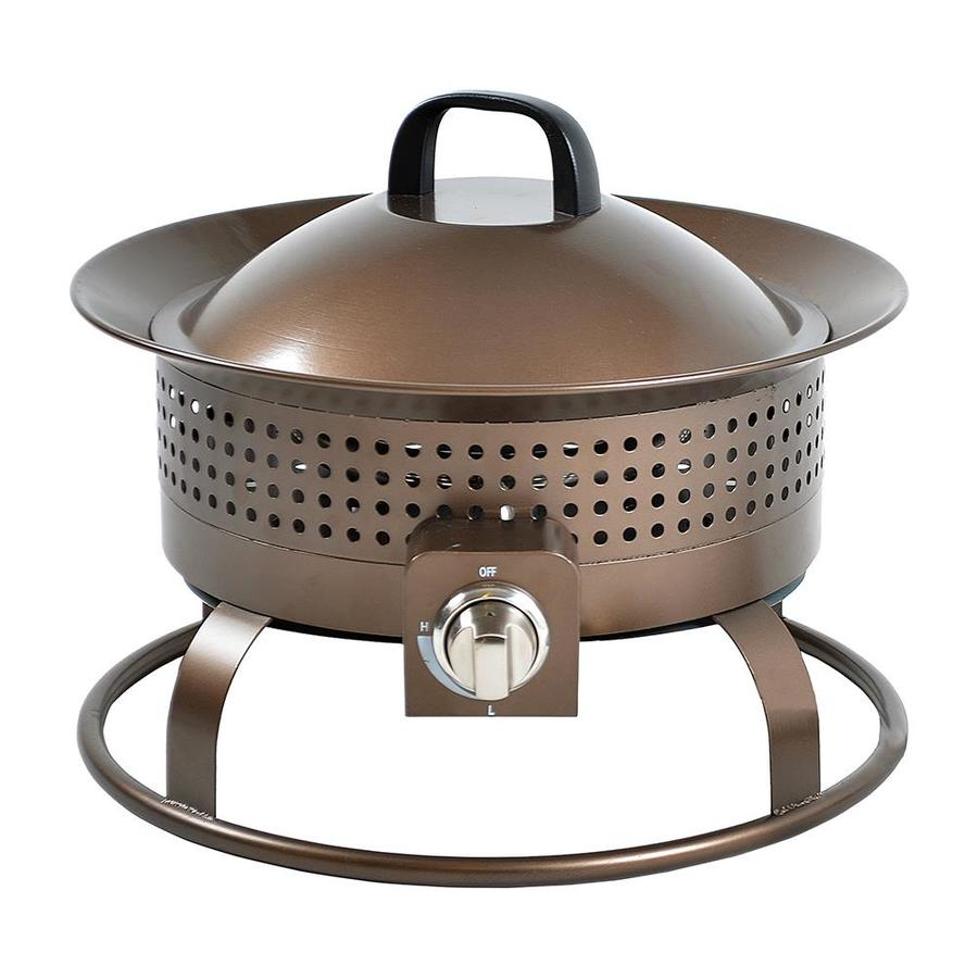 Bond 185 In W 54000 Btu Bronze Portable Steel Liquid Propane Fire intended for proportions 900 X 900
