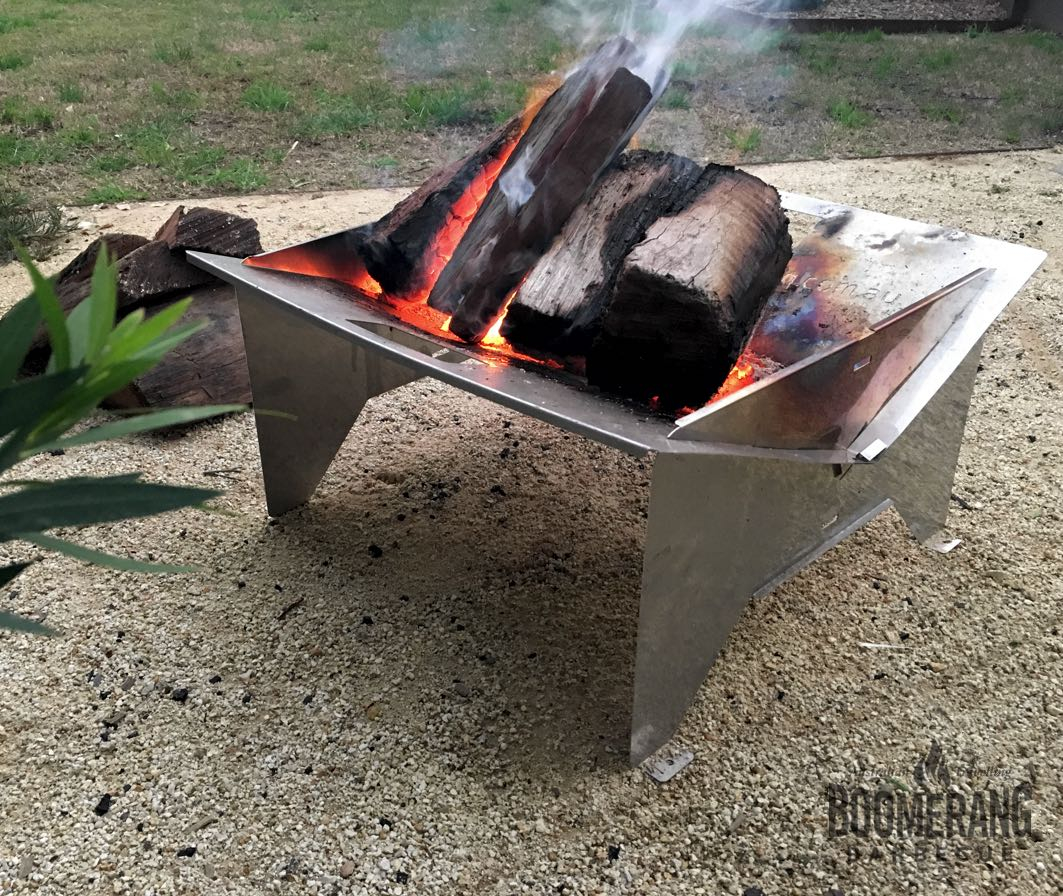 Boomerang Firepit The Smarter Portable Lightweight Firepit For Camping within dimensions 1063 X 896