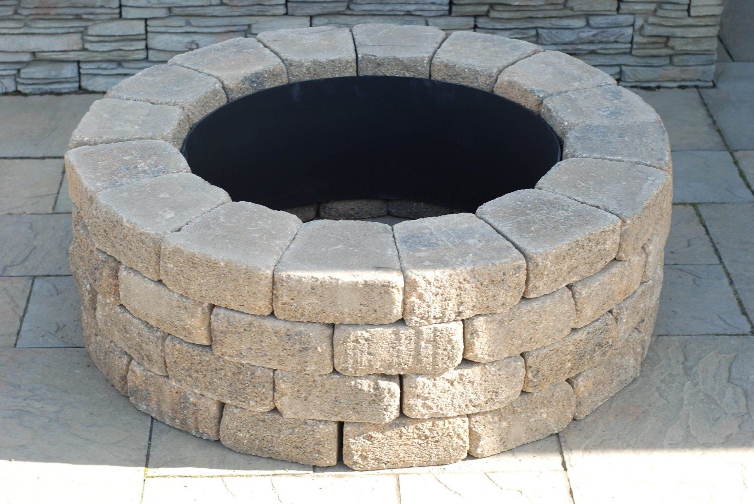 Brick Fire Rings Nantucket Pavers 71004 Concrete Ashford Fire Pit with sizing 1500 X 1004