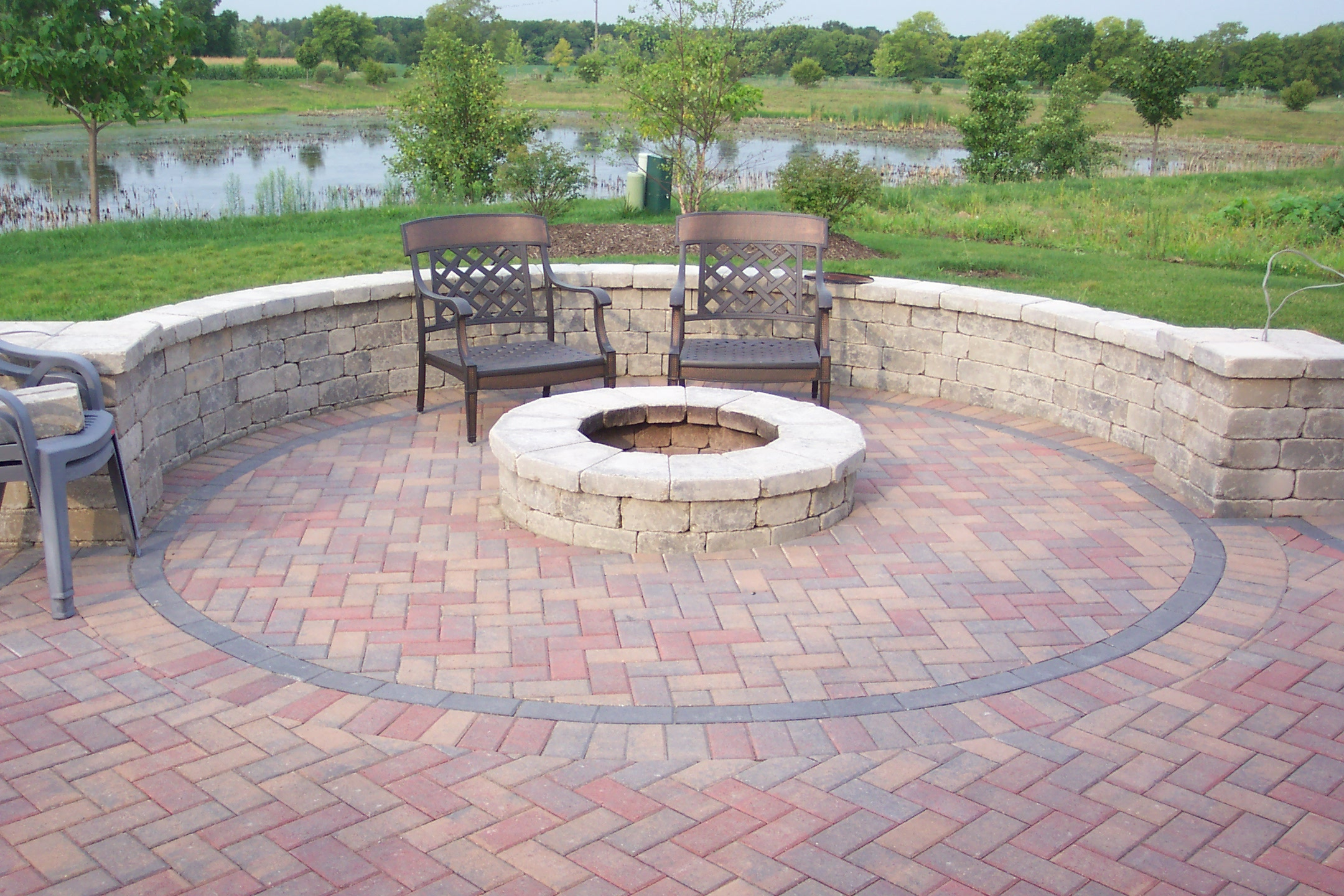 Brick Patio Fire Pit Ideas Design And Ideas with regard to size 2160 X 1440
