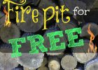 Build Your Own Backyard Fire Pit Using Free Materials Thrifty in measurements 867 X 1300