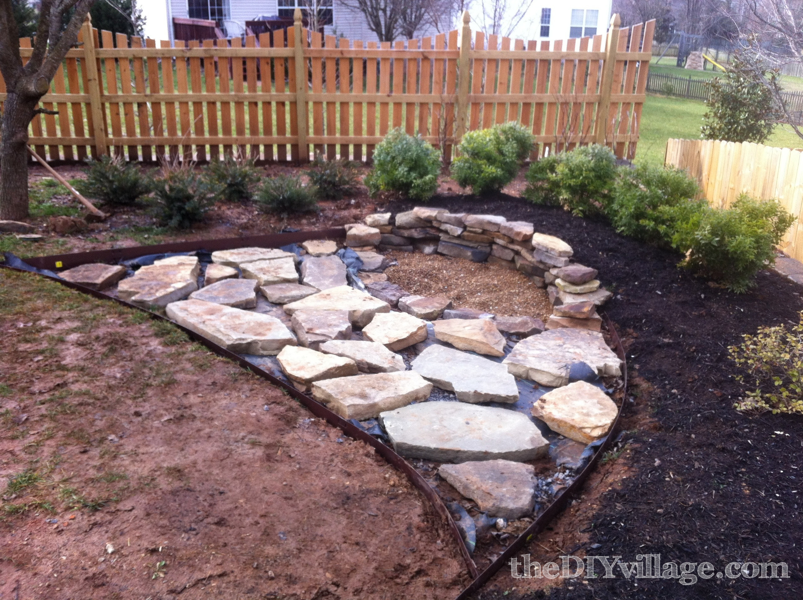 Building A Stacked Stone Fire Pit The Diy Village within measurements 2592 X 1936