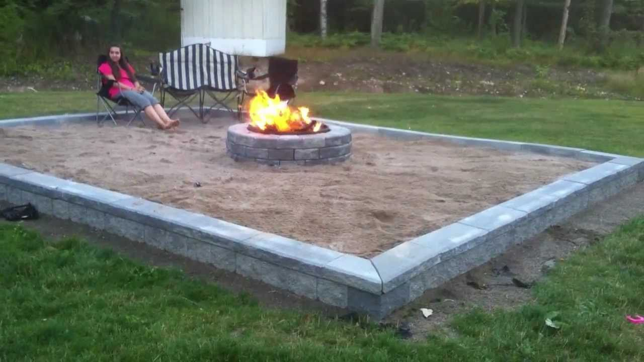Building Back Yard Beach Themed Fire Pit Series Compilation A in size 1280 X 720