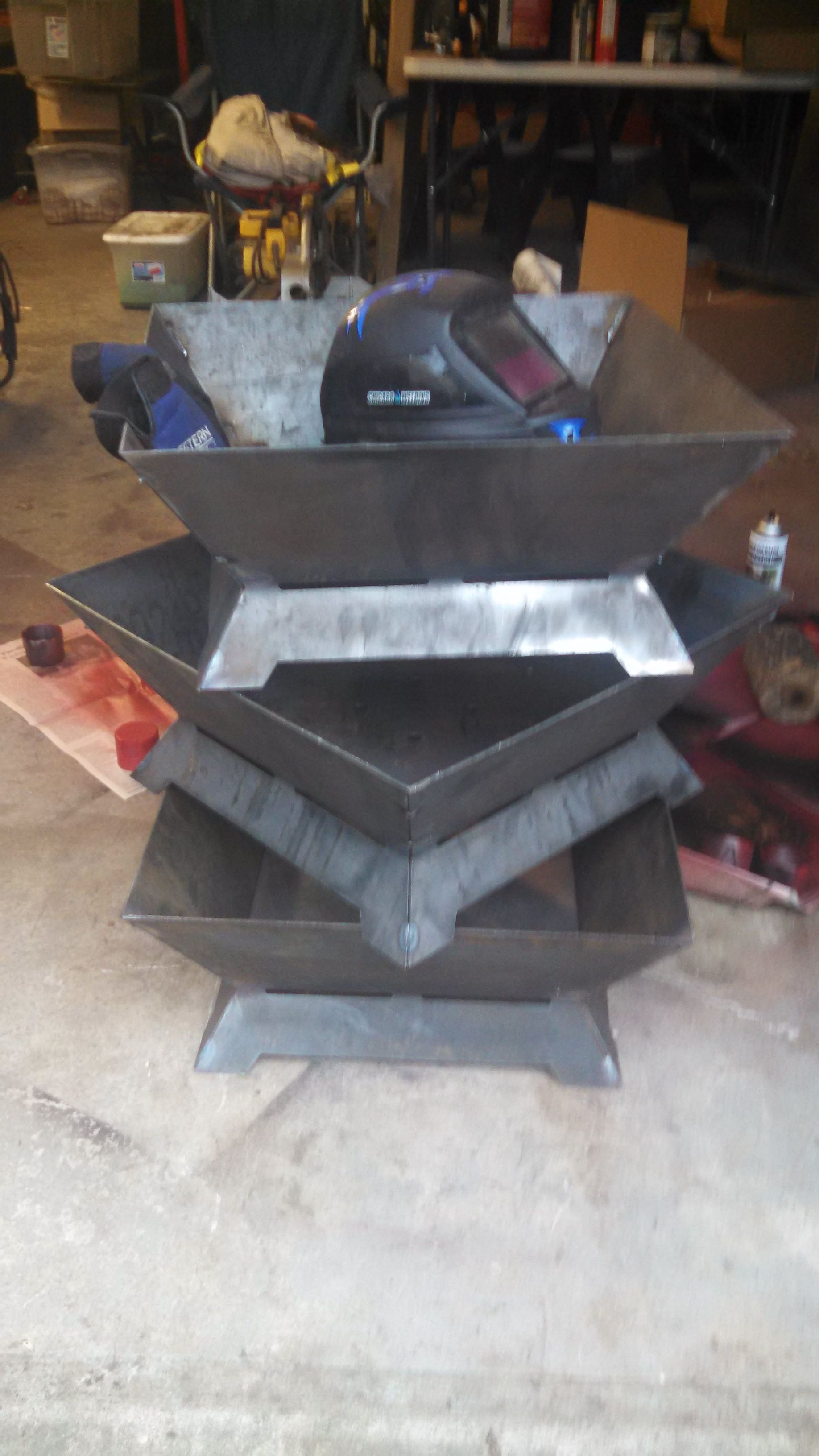 Building Some Square Fire Pits Made From Heavy Duty Steel in measurements 1836 X 3264
