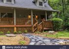 Cabin In North Carolina With Flagstone Fire Pit And Front Porch within sizing 1300 X 954