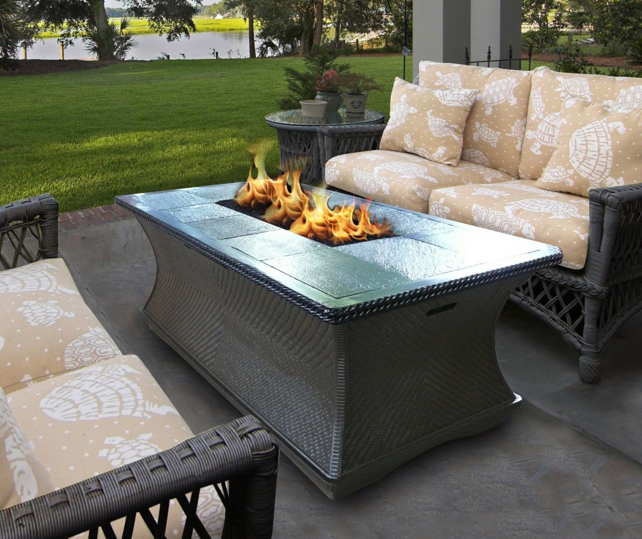 California Outdoor Concepts Monterey Firepit Coffee Table Outdoor inside size 1280 X 1075