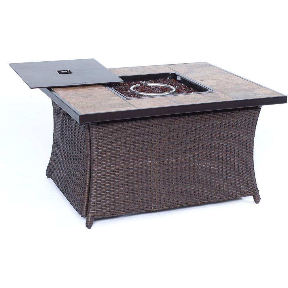 Cambridge 36 In 40000 Btu Woven Fire Pit Coffee Table With inside proportions 1000 X 1000