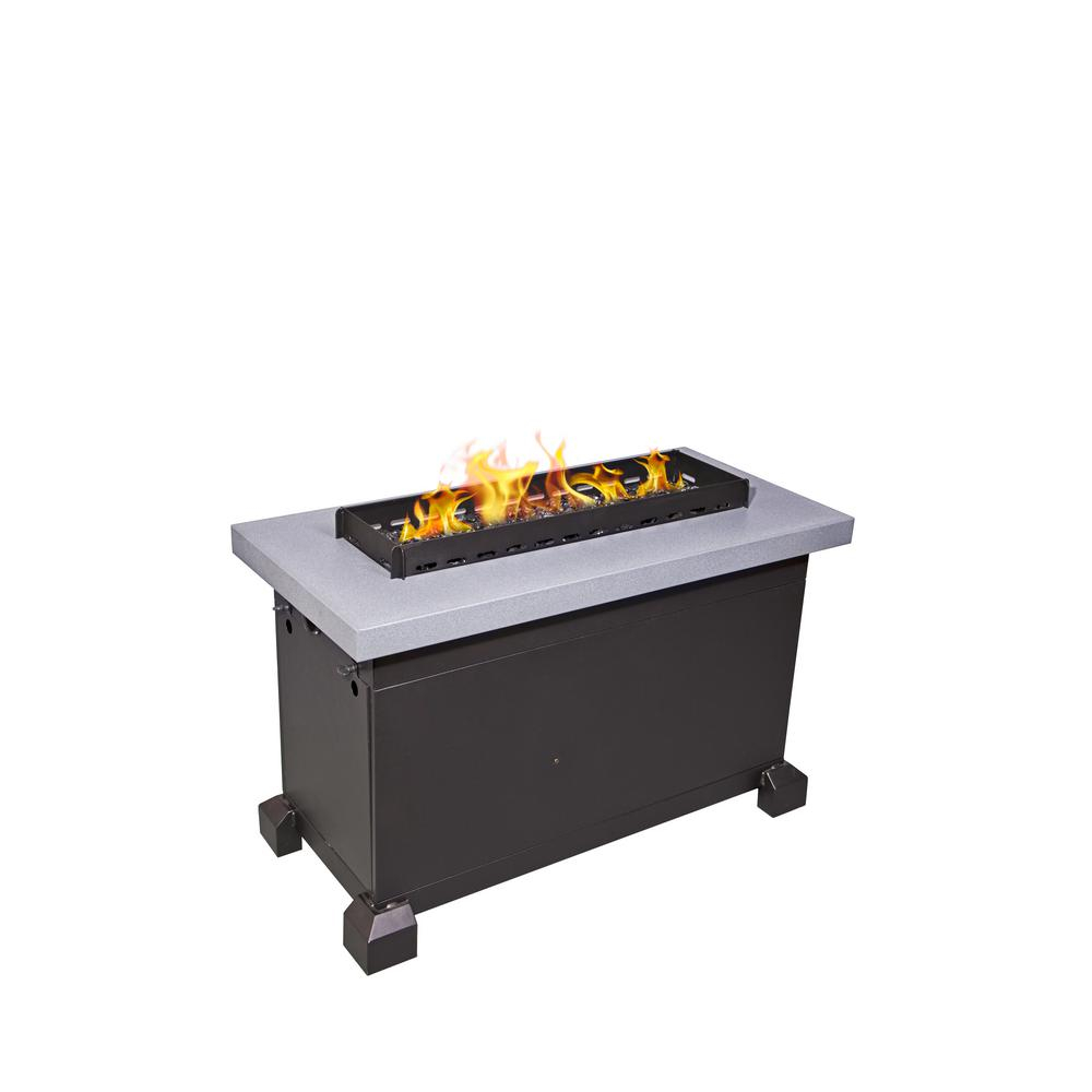 Camp Chef Monterey Propane Gas Fire Pit In Gray With Windscreen intended for dimensions 1000 X 1000