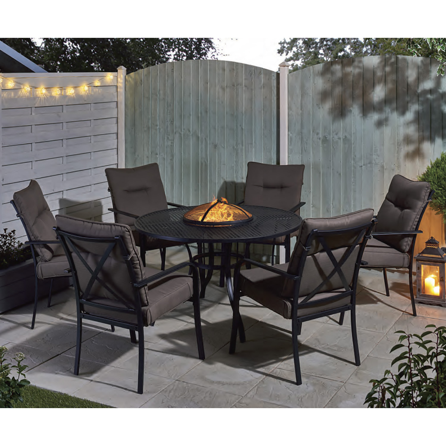Catalonia Fire Pit And Ice Bucket Dining Set throughout size 1500 X 1500