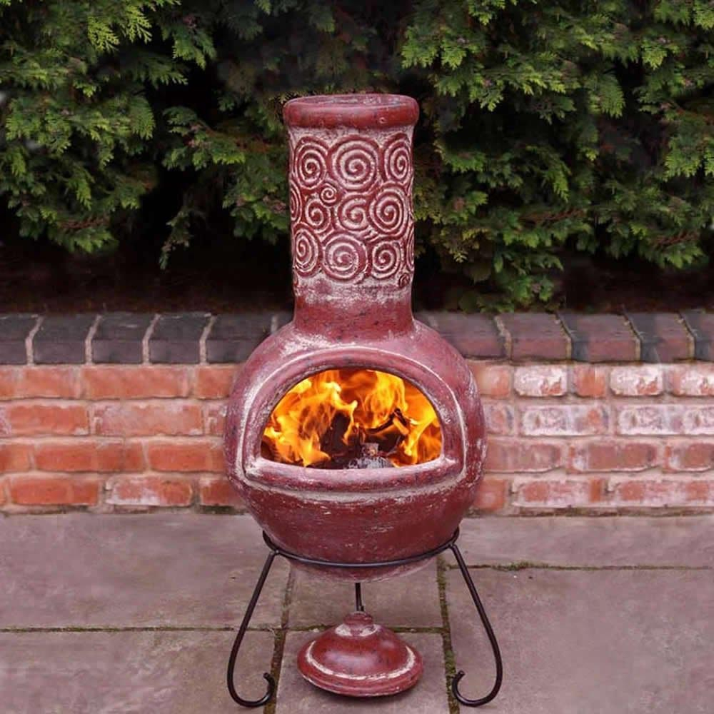 Ceramic Chimney Fire Pit Brown for size 1000 X 1000