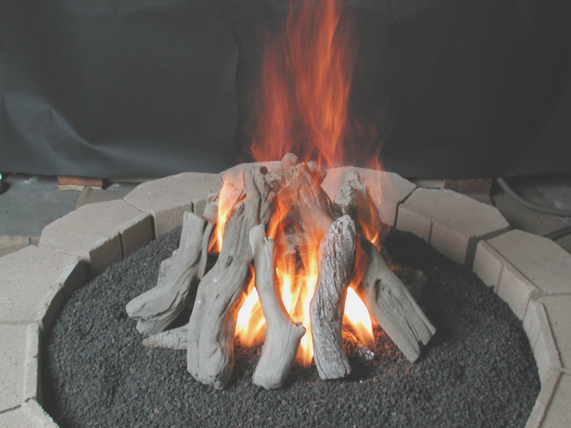 Ceramic Logs For Gas Fire Pit Outdoor Gas Logs Fire Pit And pertaining to dimensions 1843 X 1382