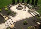 Circle Fire Pit Patio Area Indiana Sandstone Patio With A Paver throughout size 1632 X 1224