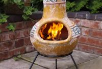 Clay Fire Pit Chimney Color within measurements 964 X 962