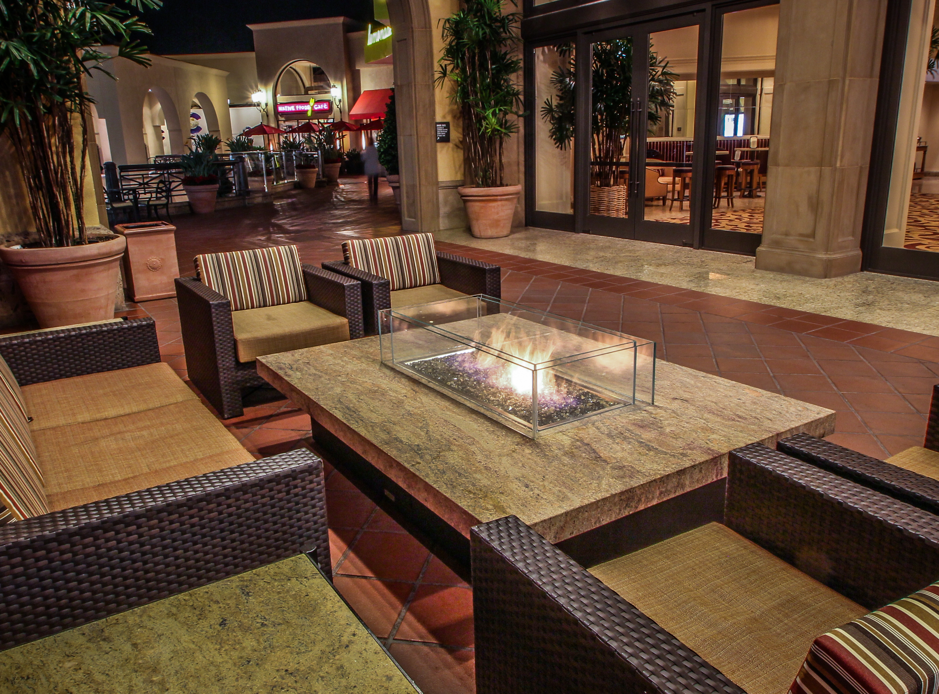 Commercial Residential Montecito Large Fire Pit Table pertaining to proportions 3244 X 2400