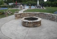 Concrete Patio With Fire Pits Pictures Fire Pit Sitting Wall with measurements 1536 X 1152