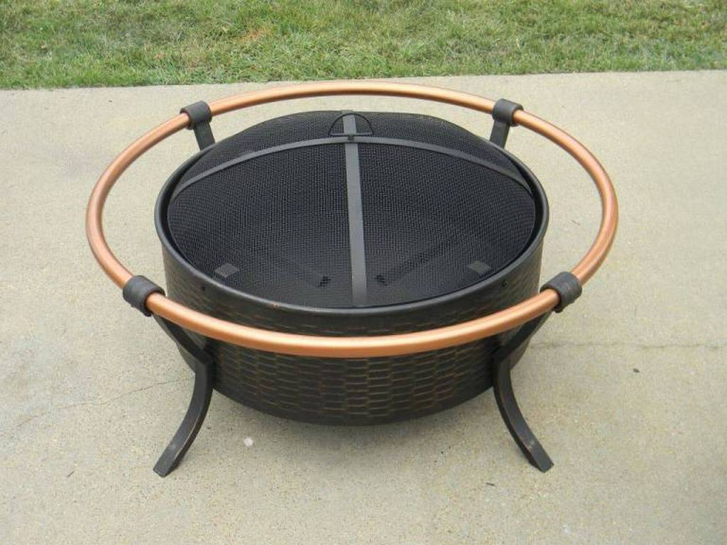 Copper Rail Fire Pit 60859 regarding proportions 1024 X 768