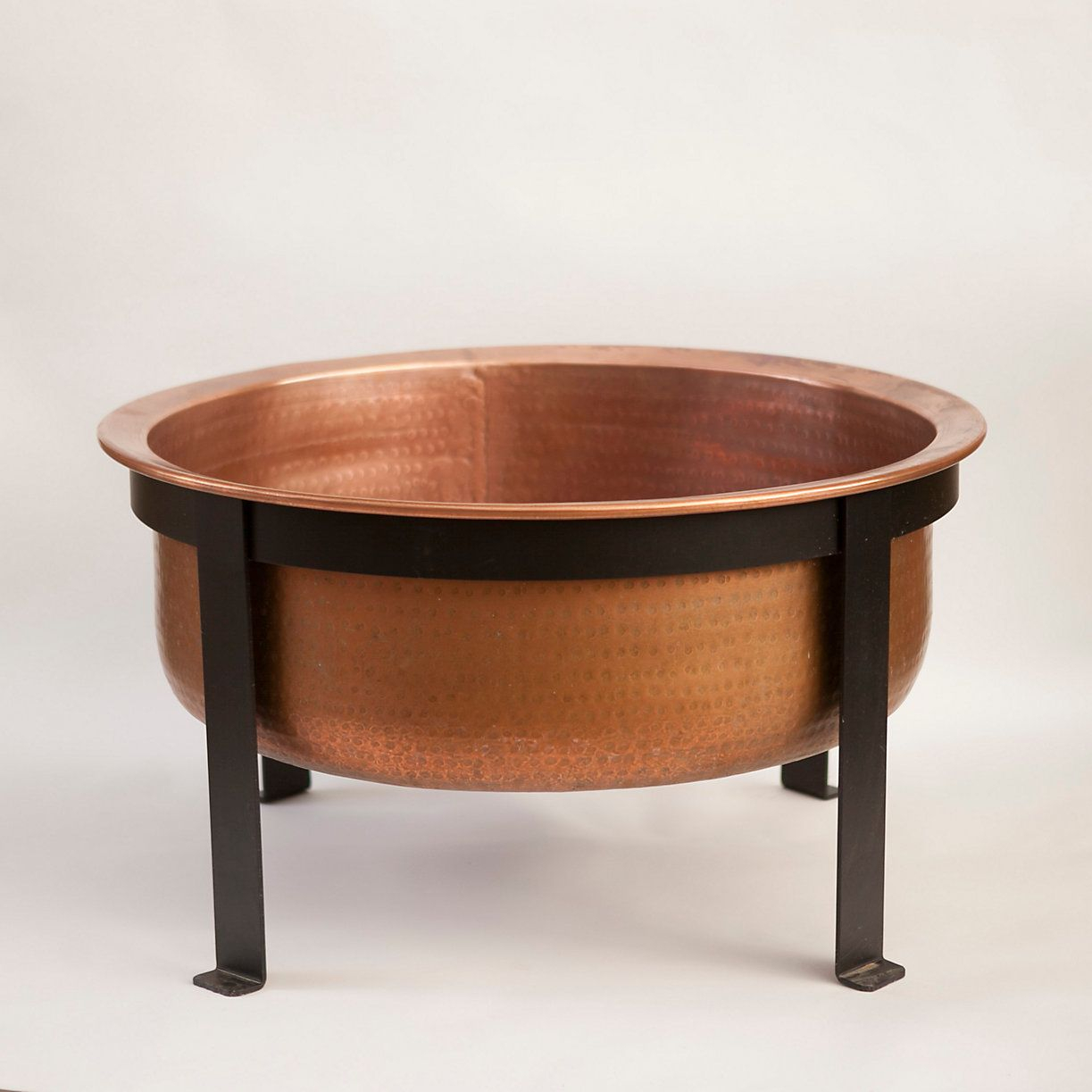 Copper Table Fire Pit Copper Fire Pit Outdoor Tables And Patios regarding proportions 1223 X 1223