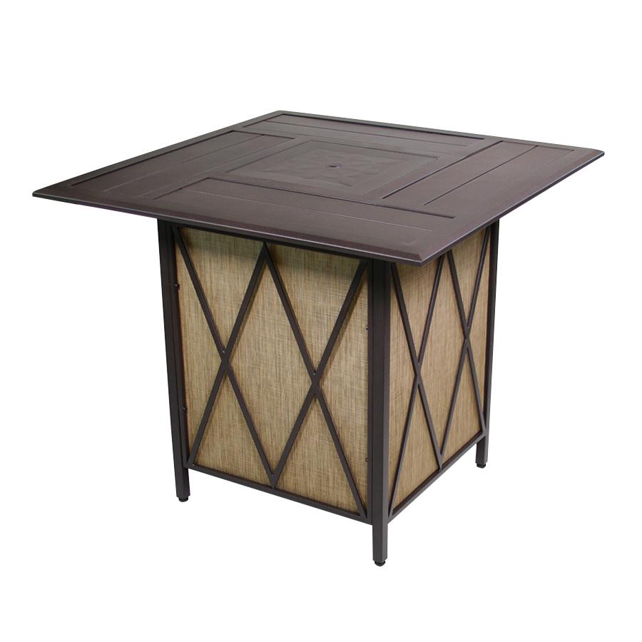 Courtyard Creations 423 In W 37000 Btu Black Walnut Tabletop Steel with size 900 X 900
