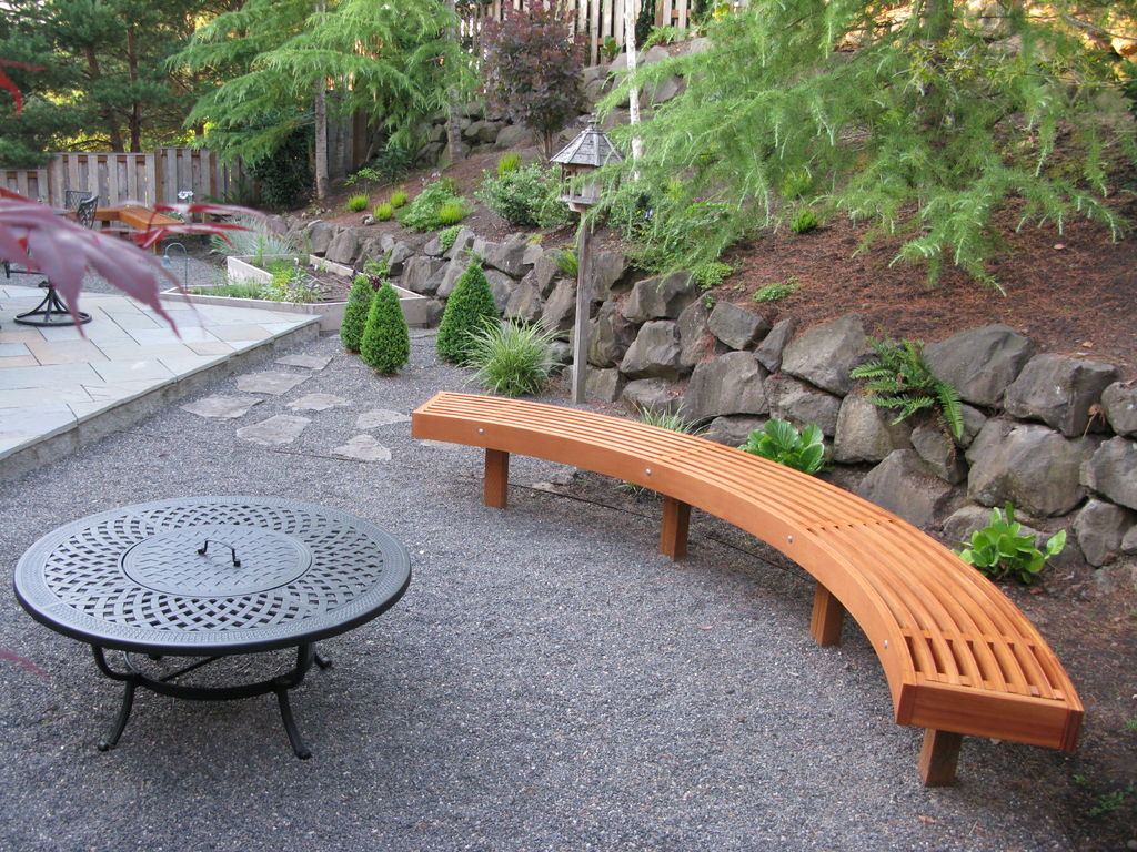 Curved Garden Bench From Cedar Laminations 7 Steps With Pictures intended for proportions 1024 X 768