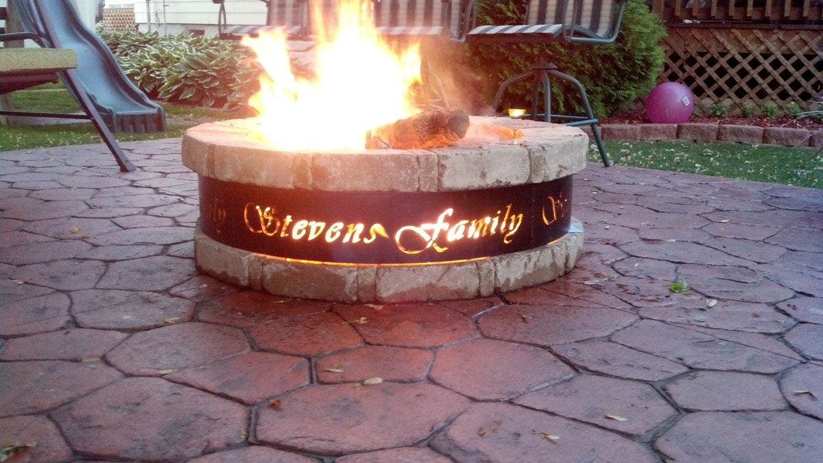 Custom Fire Pit Ring Fireplace Design Ideas with measurements 1200 X 676