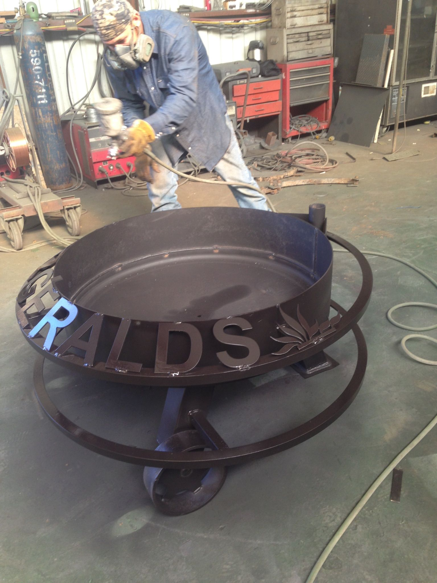 Custom Fire Pits Fire Pits Custom Metal Signs Hull Welding pertaining to sizing 1536 X 2048
