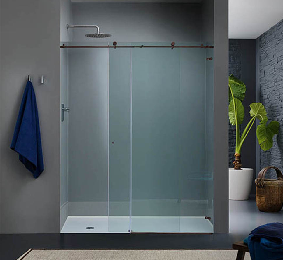 Custom Sliding Glass Shower Doors Dulles Glass And Mirror regarding proportions 970 X 890