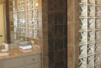 Custom Walk In Shower With No Door And Glass Block For Extra Light inside size 2112 X 2816