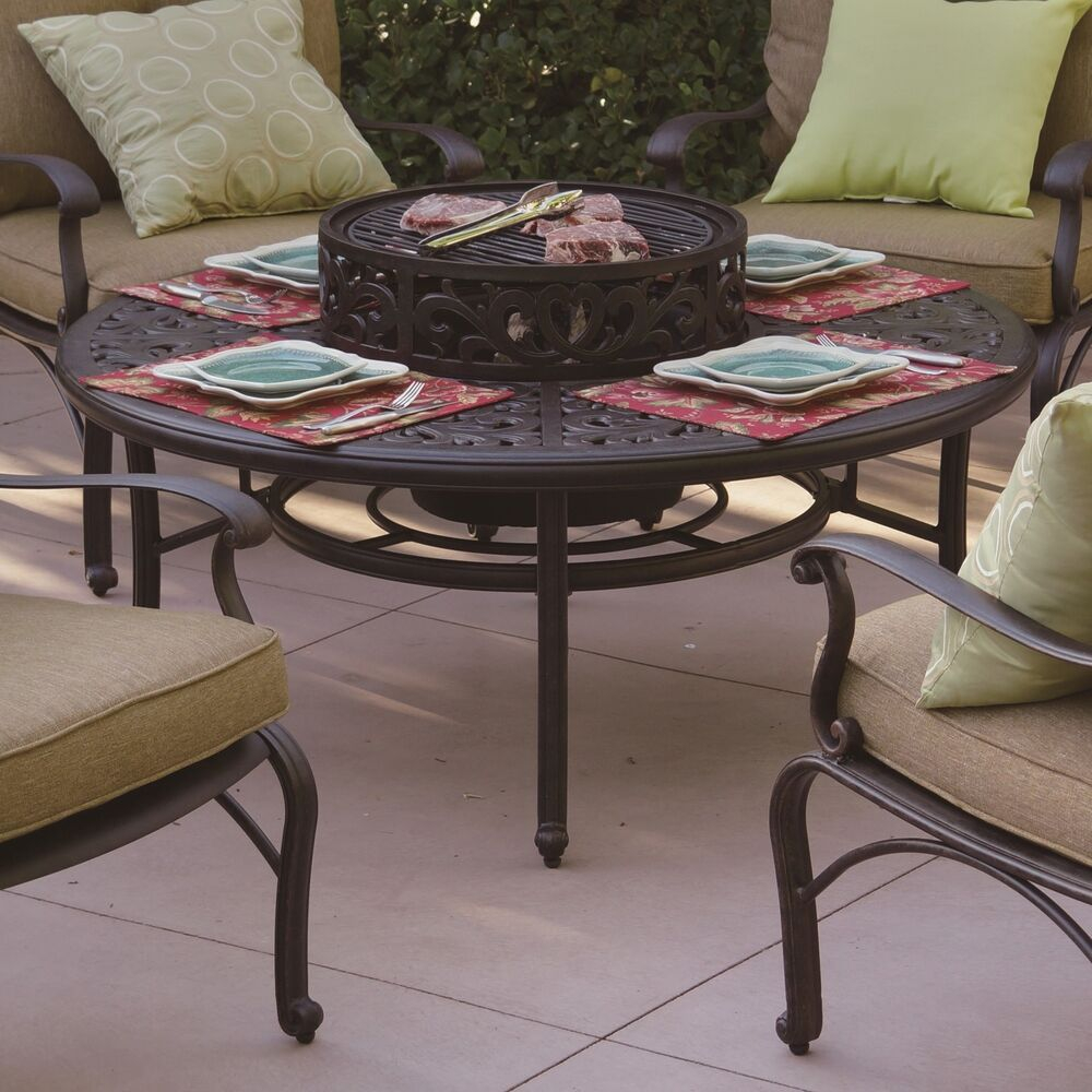Darlee Series 80 Aluminum Wood Burning Fire Pit Table 190212947160 regarding proportions 1000 X 1000