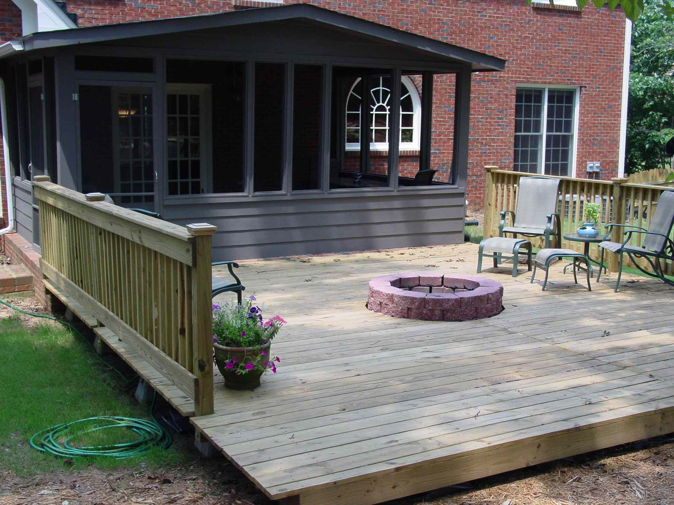 Deck With Fire Pit Quality Home Remodeling For The Home Deck intended for sizing 2272 X 1704