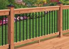 Deckorail 6 Ft Redwood Deck Rail Kit With Black Aluminum Balusters pertaining to dimensions 1000 X 1000
