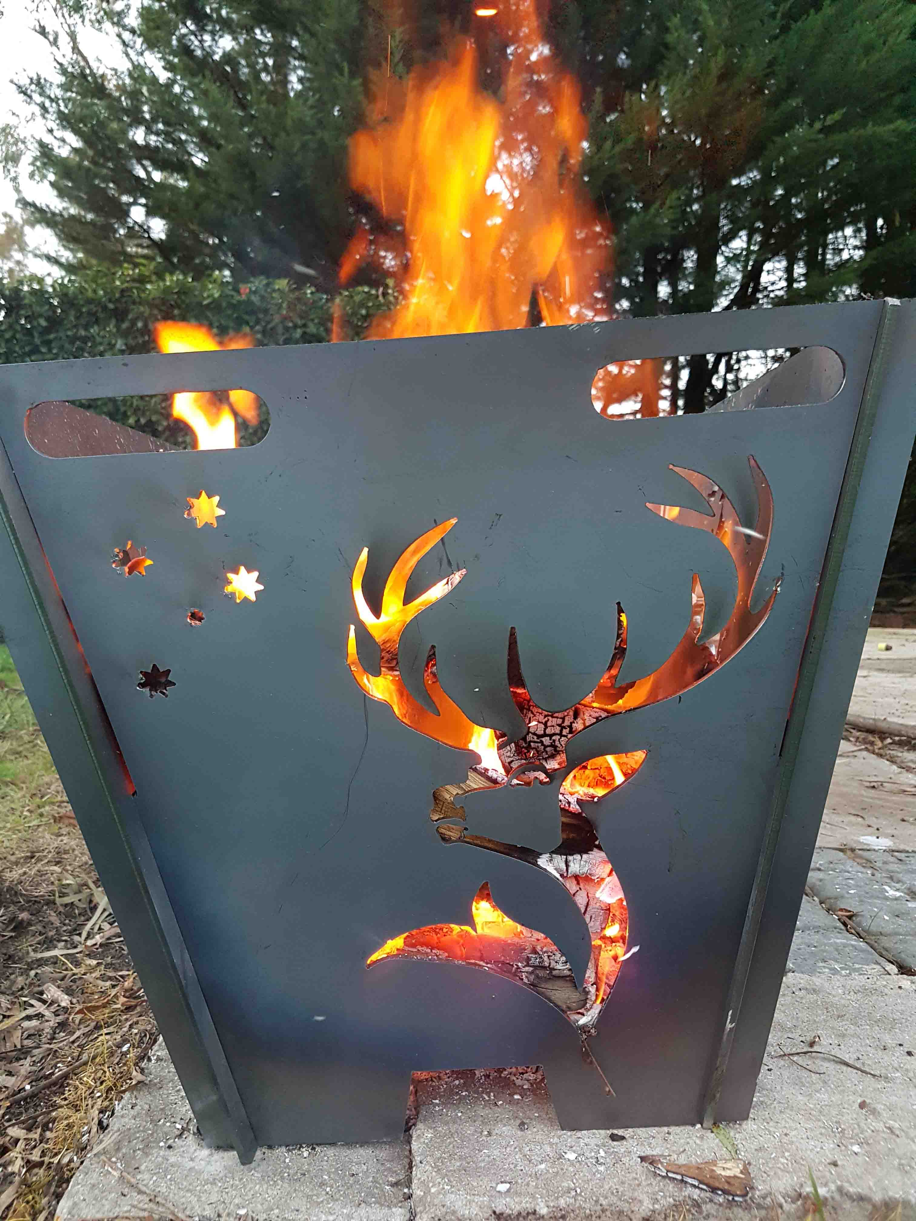Deer Fire Pit Upright Central Steel Build with proportions 3024 X 4032
