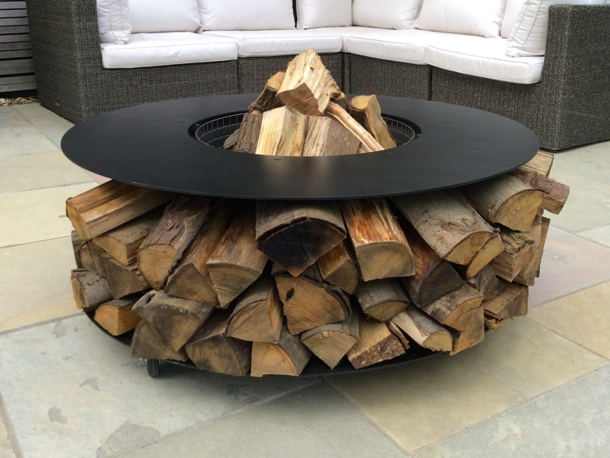 Deluxe Log Fire Pit Practical Elegant Multi Functional with proportions 1199 X 900