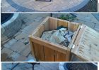 Diy Firepit Storage Tables One Holds The Propane Gas Tank For The for dimensions 2550 X 4200