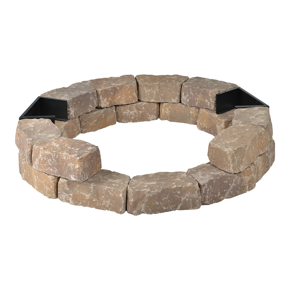 Diy Round Gas Fire Pit Kit Bond Mfg Heating with proportions 1000 X 1000