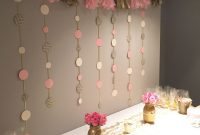 Diy Set Up For A Pink And Gold Bridal Shower Diy Home Party In intended for dimensions 1000 X 1334