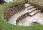 Diy Stone Fire Pit With Seating Dry Stone Seating Area And Fire pertaining to measurements 1500 X 1125