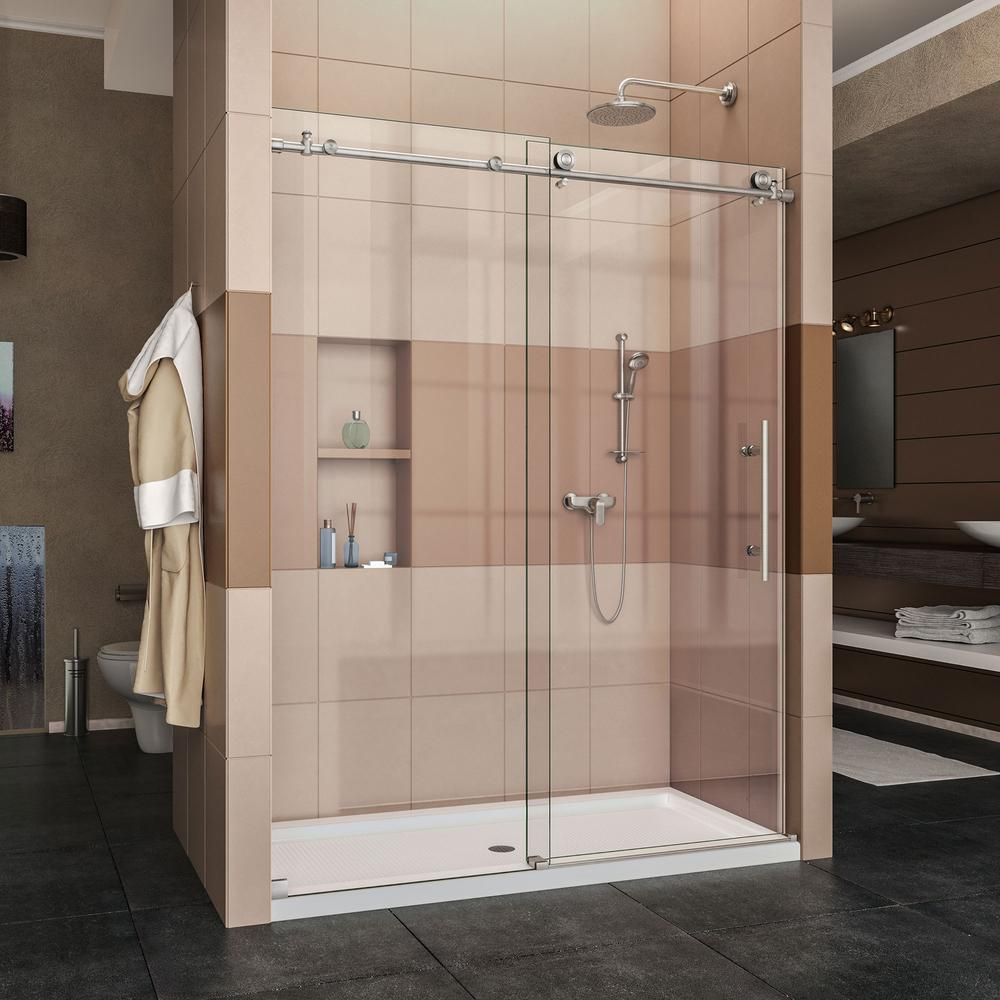 Dreamline Enigma X 56 To 60 In X 76 In Frameless Sliding Shower with dimensions 1000 X 1000