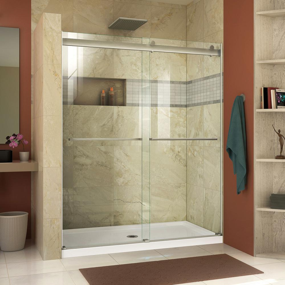 Dreamline Essence 44 In To 48 In X 76 In Semi Frameless Sliding with regard to measurements 1000 X 1000