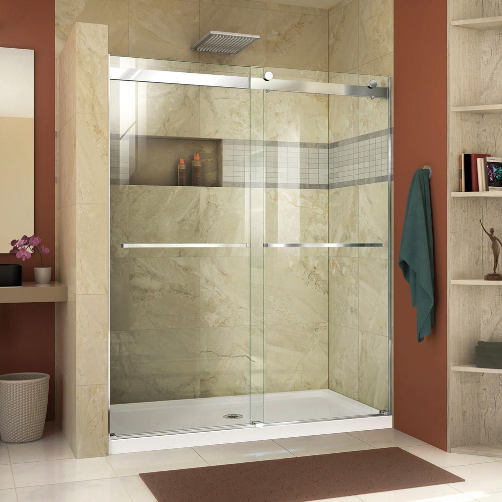 Dreamline Essence 56 To 60 In X 76 In Semi Frameless Sliding pertaining to sizing 1000 X 1000
