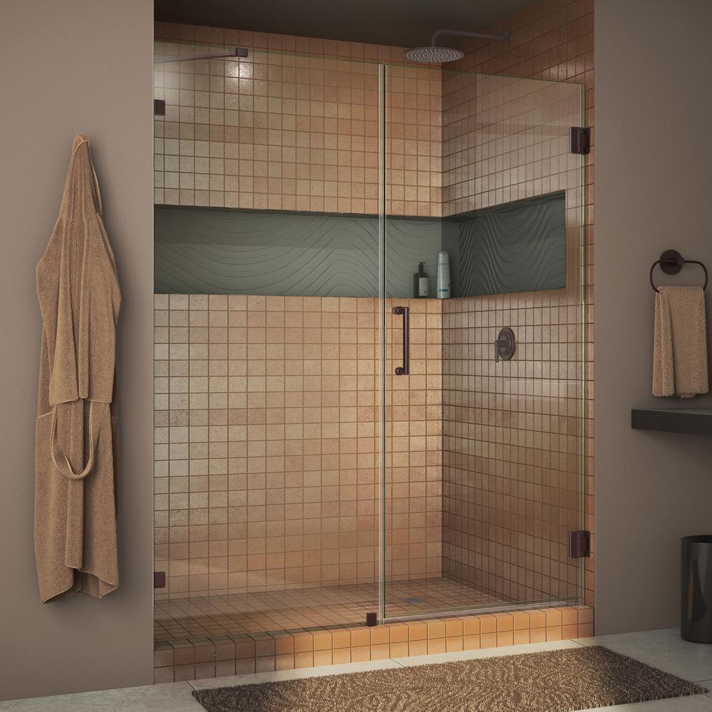 Dreamline Unidoor Lux 54 In X 72 In Frameless Hinged Shower Door in size 1000 X 1000