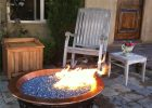 Electric Blue Reflective Crystal Diamond Fire Pit Glass Fire Pit intended for proportions 968 X 1296