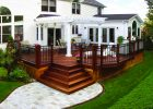 Elegant Wood Deck With Free Standing Pergola Design Ideas for proportions 2832 X 2055