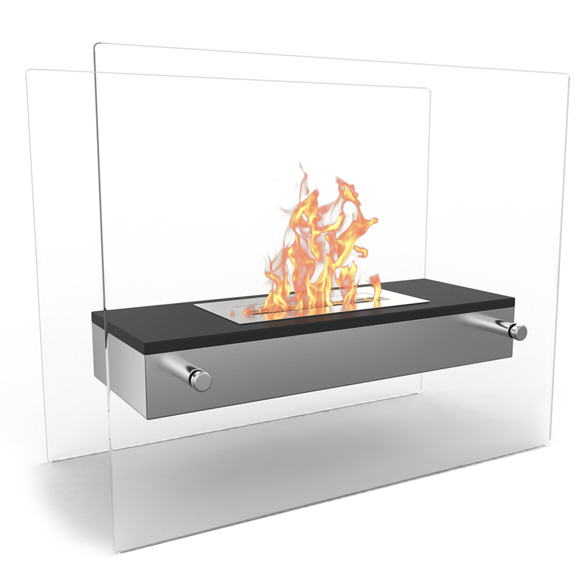 Elite Flame Vista Tabletop Firepit Bio Ethanol Ventless Fireplace Black within dimensions 1200 X 1200