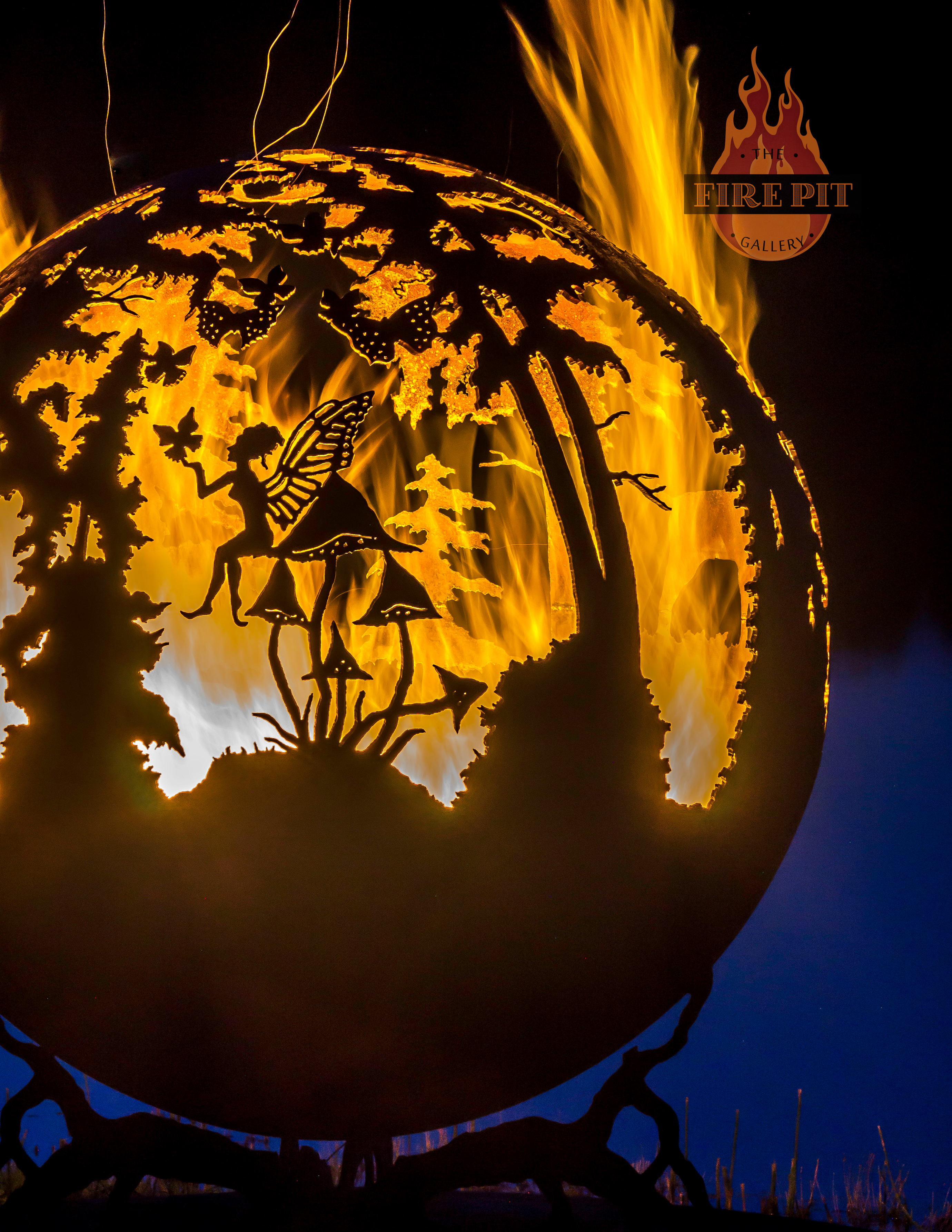 Enchanted Woods Fire Pit Sphere The Fire Pit Gallery regarding proportions 2760 X 3572