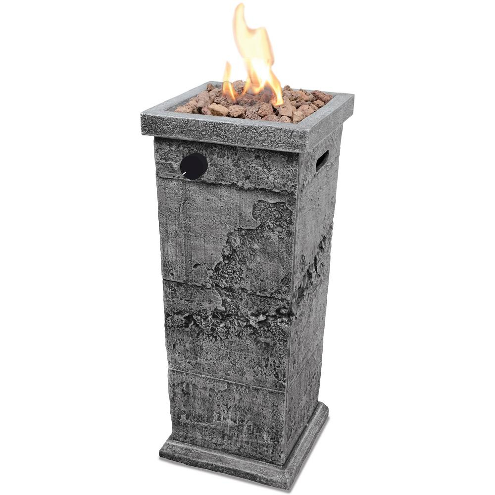 Endless Summer 12 In X 29 In Mgo Propane Gas Fire Pit Column for measurements 1000 X 1000