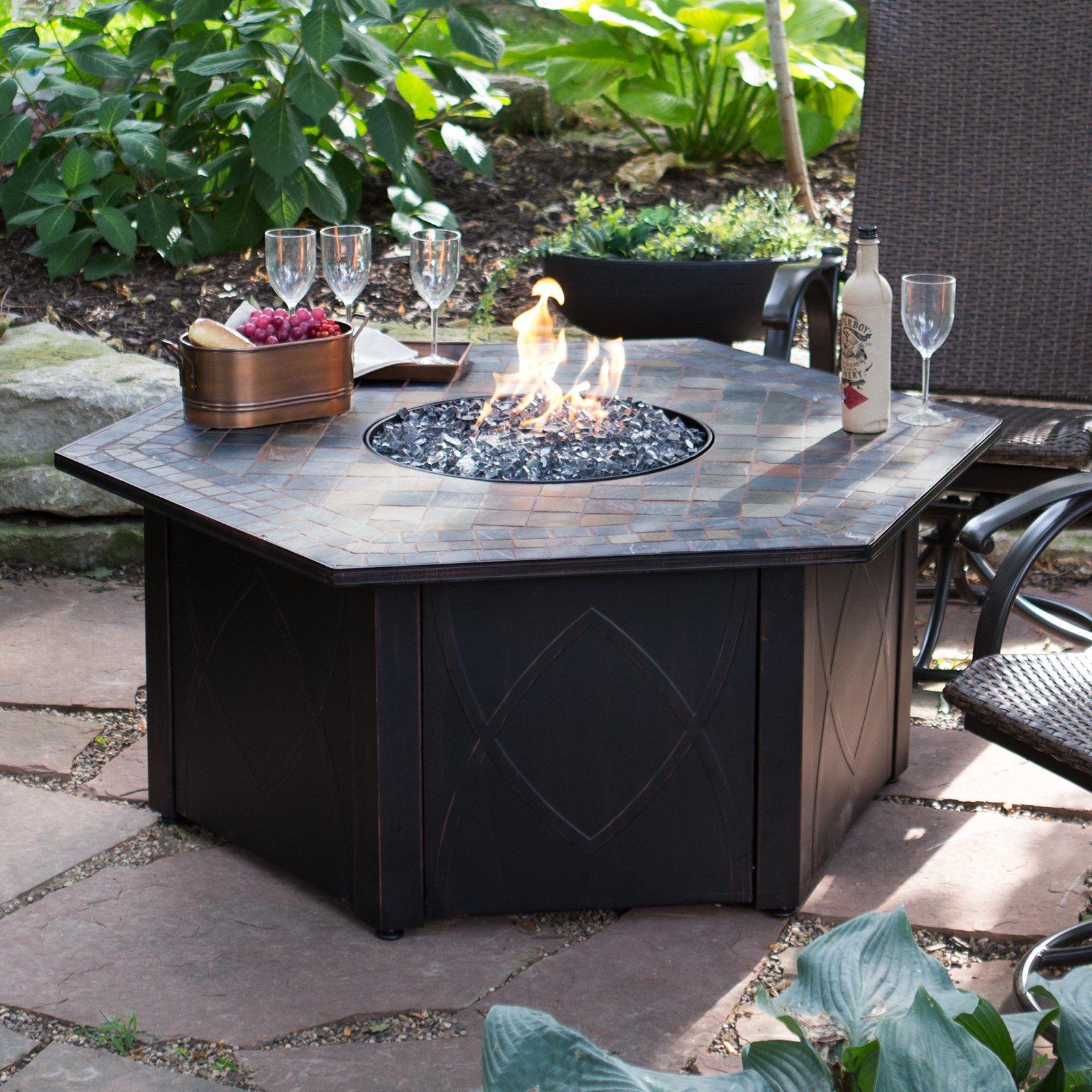 Endless Summer 55 In Decorative Slate Tile Lp Gas Outdoor Fire Pit regarding size 1600 X 1600