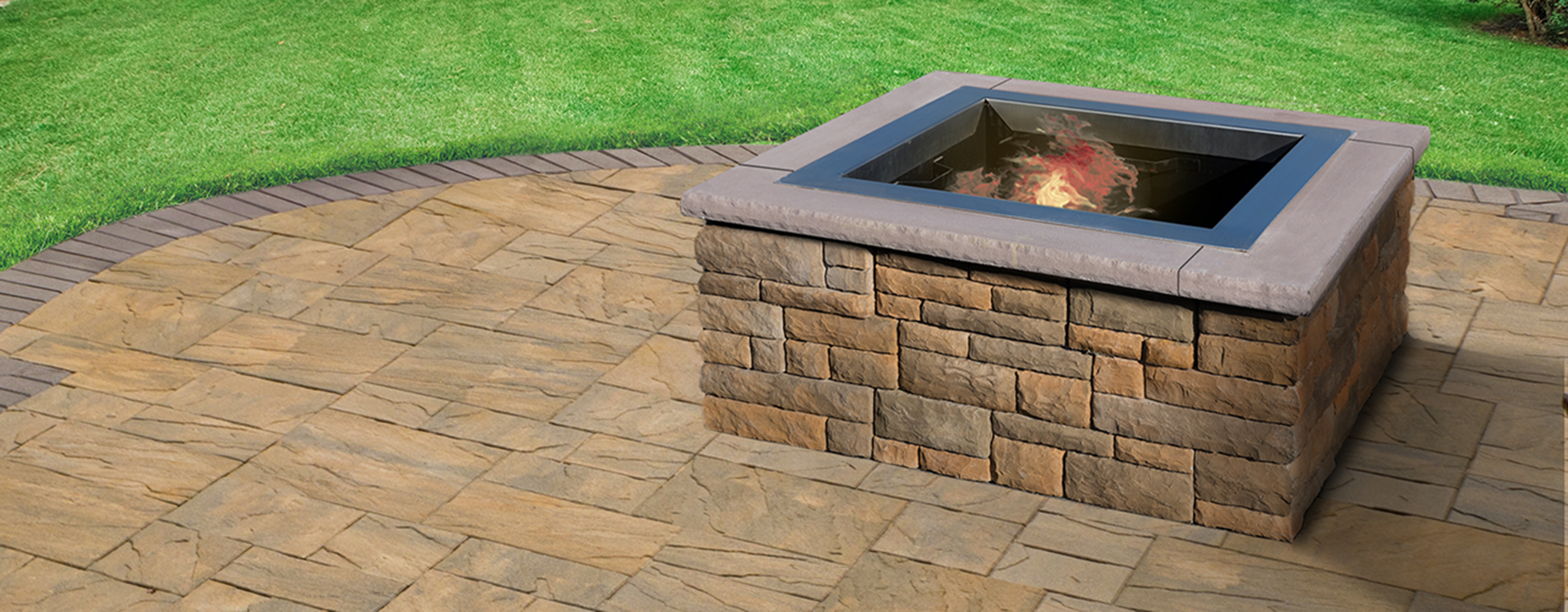 Ep Henry Cast Stone Wall Square Fire Pit Kit Rev4 Square Firepit intended for dimensions 2560 X 1000